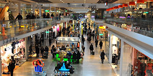 Handel, shoppingcentra