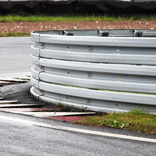 Räcke, Vägbalk, Sturup Raceway